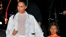 Is five-year-old North West too young for black lipstick? The internet certainly thinks so