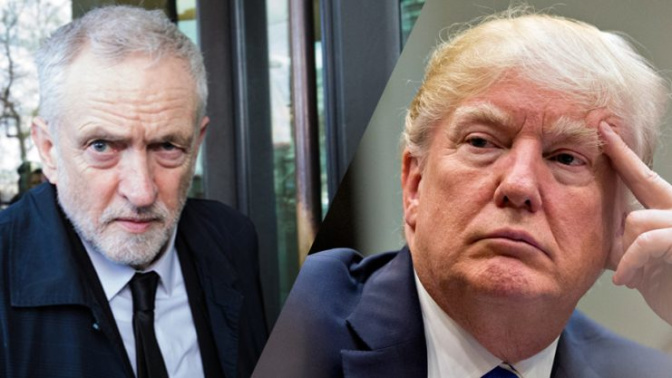 Jeremy Corbyn is an unpopular as Donald Trump with Britons