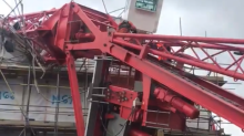 Residents trapped after 20-metre crane collapses onto Bow house