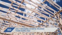 July Housing Starts Weaker Than Expected