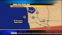 Panga rams SD harbor police boat, escapes