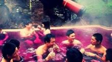 There's a hot tub in Japan where you can bathe in wine