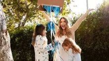 Over the top baby gender reveals like Jessica Alba's are super trendy