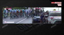 Cyclisme - Giro : Ballerini a pris un caillou dans le visage