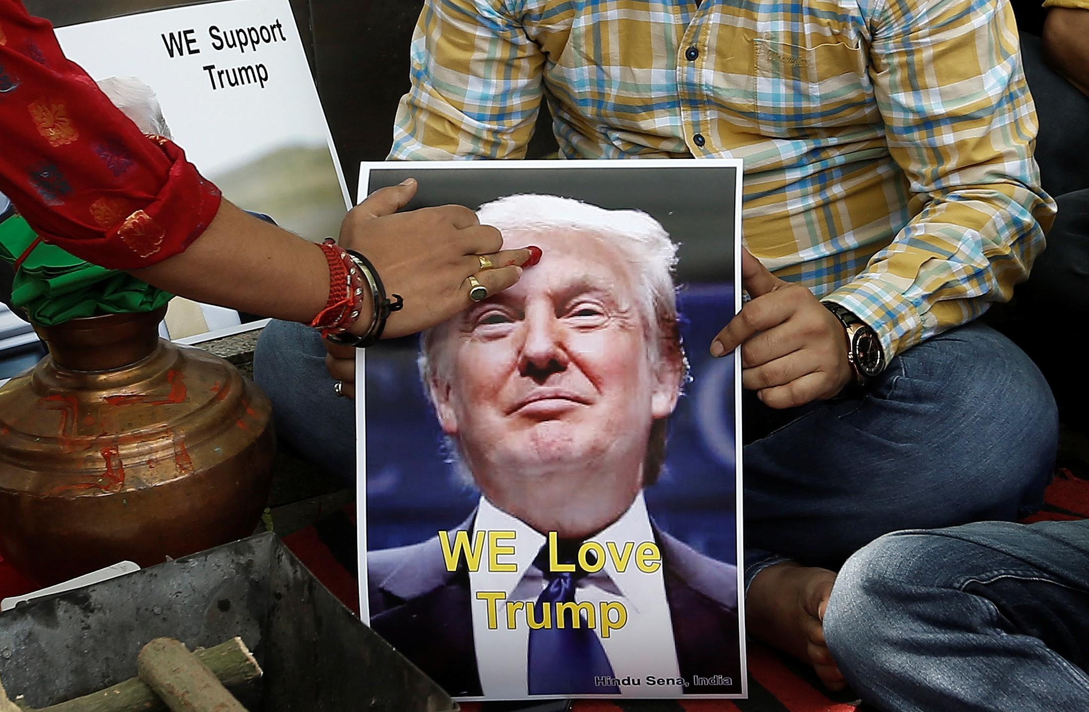 Home to have angered locals is a 30 000 square foot creation of hadid - Right Wing Hindus In India Are Calling Donald Trump The Lone Protector Of Mankind