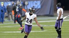 Ravens' Marcus Peters fined $15K for 'physical actions' at Titans bench during logo stomp
