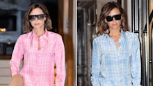 Victoria Beckham Wears Pink Pajamas in Public and Her Son Has Thoughts