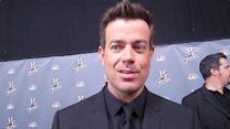 Carson Daly Backstage at 'The Voice'