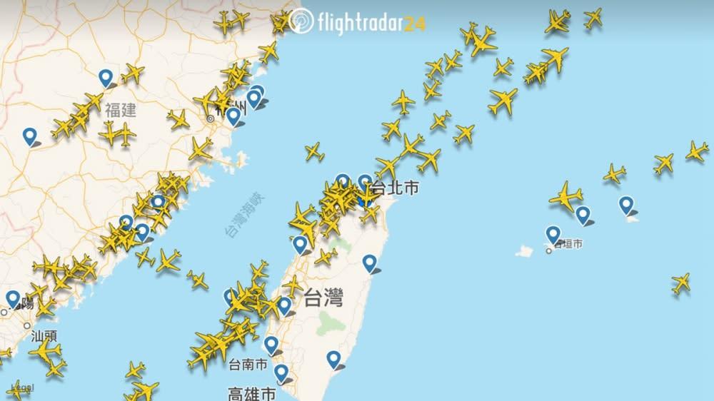 也可以透過手機APP來觀察目前鄰近的飛機動態。