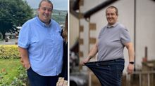Dad who lost 10 stone in six months believes weight loss helped him beat coronavirus