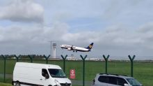 Plane fails to land at Dublin airport in strong winds