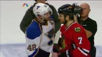 Blues and Blackhawks handshake
