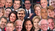 Stephen Colbert Gets Lost In A Sea Of Donald Trump 2020 Democratic Challengers