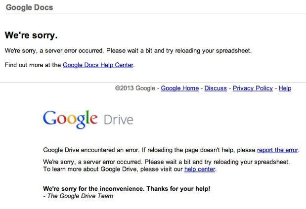 Gmail, Drive, other Google apps down for some (update: back up)