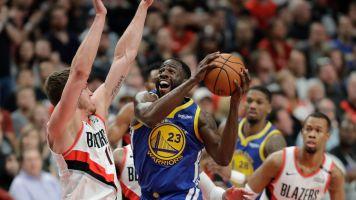 Warriors rally again as Blazers hopes fade