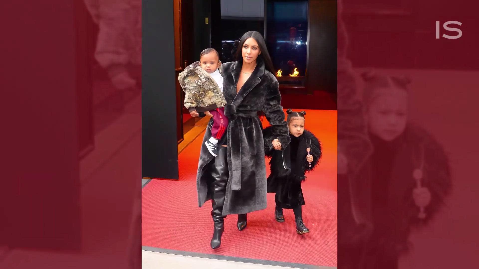 kim kardashian west ditches her bra in skintight bodysuit and cutoffs