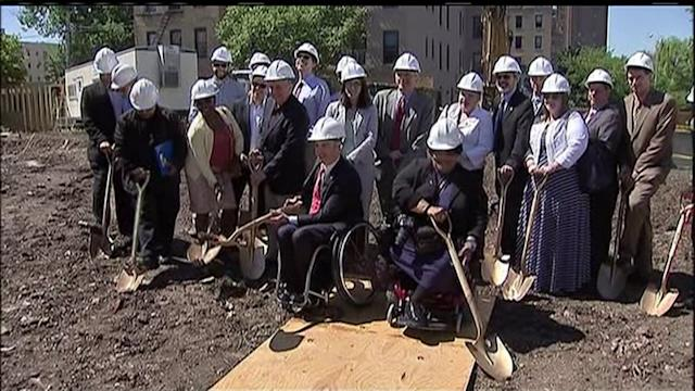 City Breaks Ground on Housing for Domestic Abuse Survivors