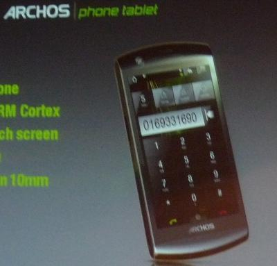 Archos phone tablet teased: Android, 4.3-inch touschscreen, 1GHz ARM processor