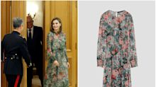 Letizia vuelve a estrenar un vestido de Zara (y acierta)