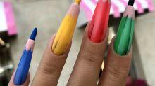 Las uñas de lápices y otras propuestas locas de 'nail art'