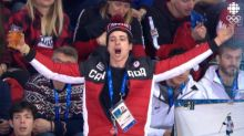 Scott Moir might be Team Canada's most boisterous fan