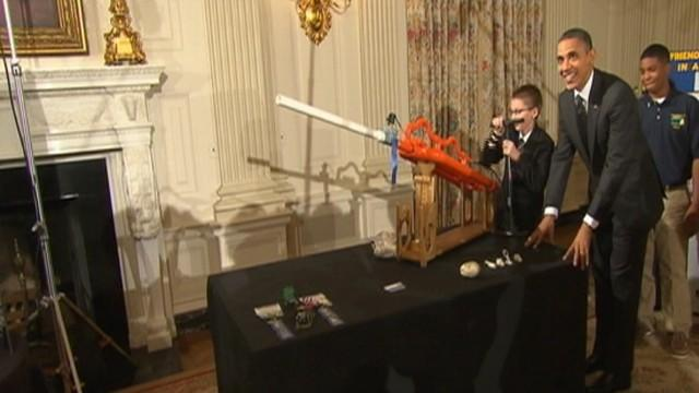 Marshmallows Away! Obama Tests New Air Cannon