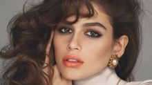 Kaia Gerber, 16, wears clip-on earrings in '80s-style photo shoot