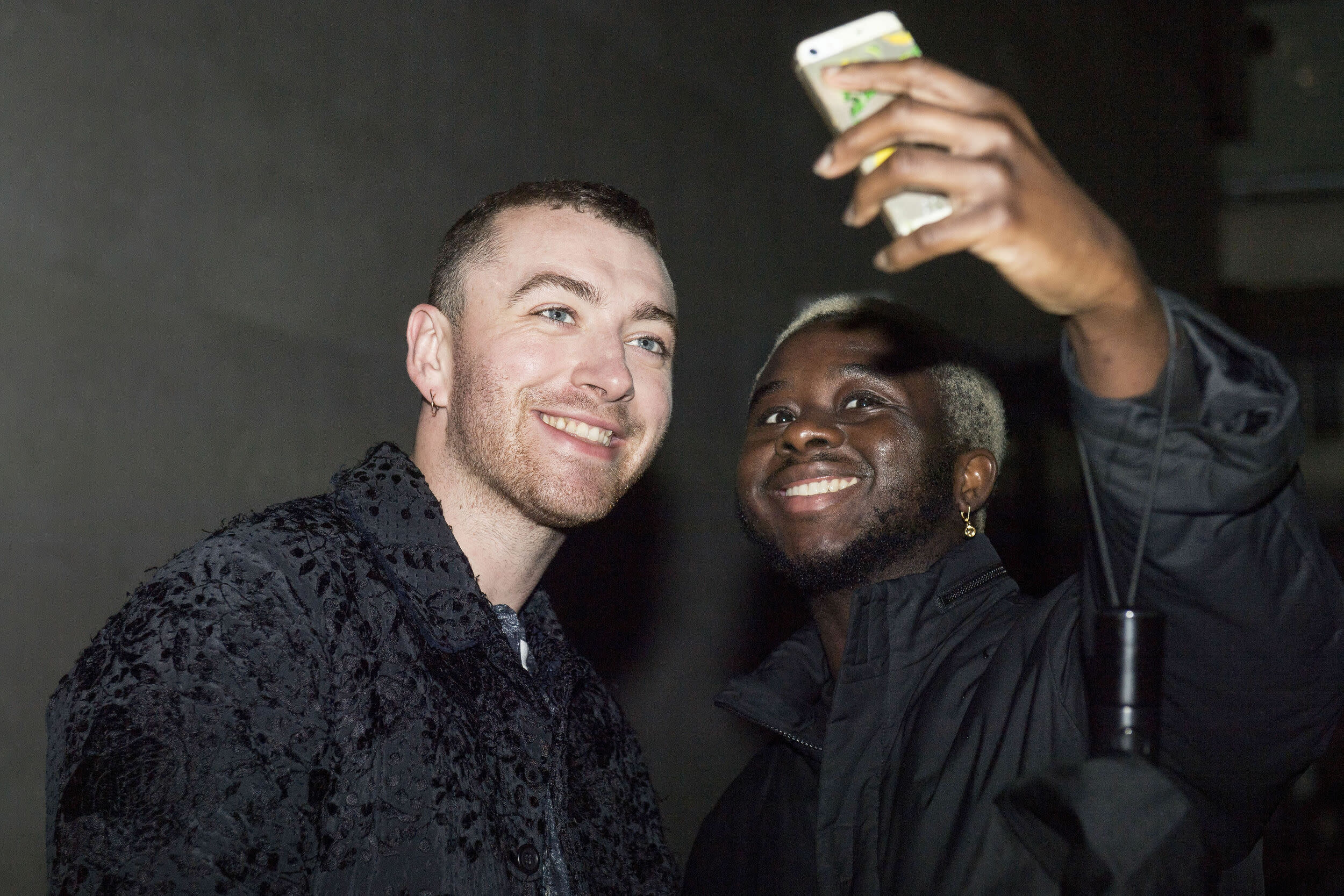 Sam Smith outside BBC Broadcasting House in London, where he appeared on on The Radio 1 Breakfast Show with Nick Grimshaw.