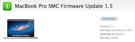 MacBook Pro, AirPort Base Station and Time Capsule firmware updated