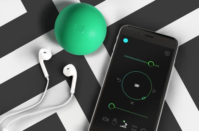 Oddball is a drum machine controller you toss around to make beats