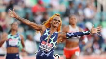In signature look, Sha'Carri Richardson sprints to Olympic debut with 100m win