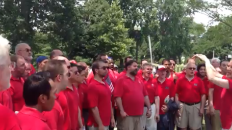 Choir celebrates DOMA ruling outside Supreme Court
