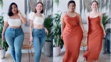 Best friends' viral TikTok videos show what clothes look like on different body types