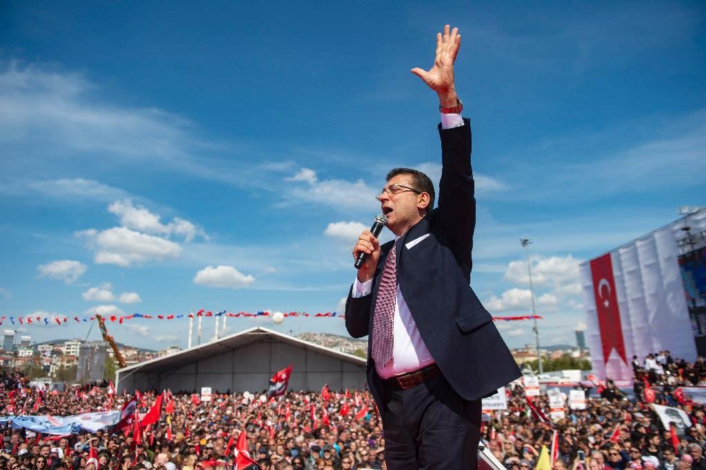 Ekrem Imamoglu's election victory was a stinging setback to Erdogan's ruling party (AFP Photo/Yasin AKGUL)