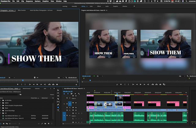 Adobe Premiere Pro can automatically reframe your videos