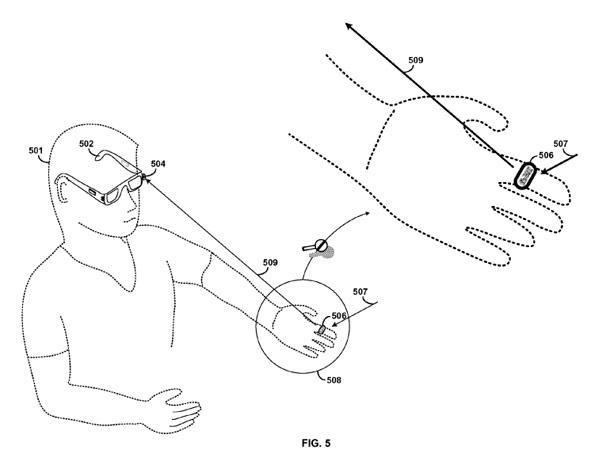 Google patent application could give Project Glass one true ring controller to rule them all