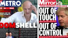 'Domshell': How the UK front pages reacted to Cummings' explosive testimony