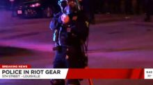Louisville Cop Fires Pepper Balls at News Crew Covering Protests on Live TV (Video)