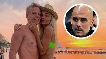 Manchester City's Champions League exit 'completely Guardiola's fault', claims Zinchenko's fiancee