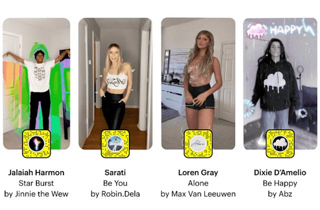 Snapchat's latest custom Lenses are designed for dancing videos