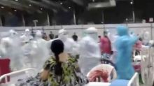 Healthcare workers, patients dance the 'garba' at COVID-19 facilities; videos go viral