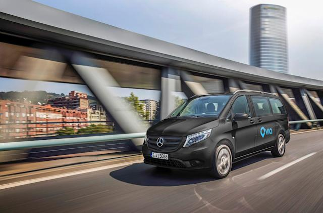 Daimler and Via to launch ride-sharing shuttle service in Europe