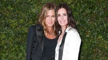 Jennifer Aniston Stuns at Glam Dinner With Bestie Courteney Cox: Pics
