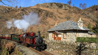 Inside a restored Welsh cottage so remote you can only get there by steam train