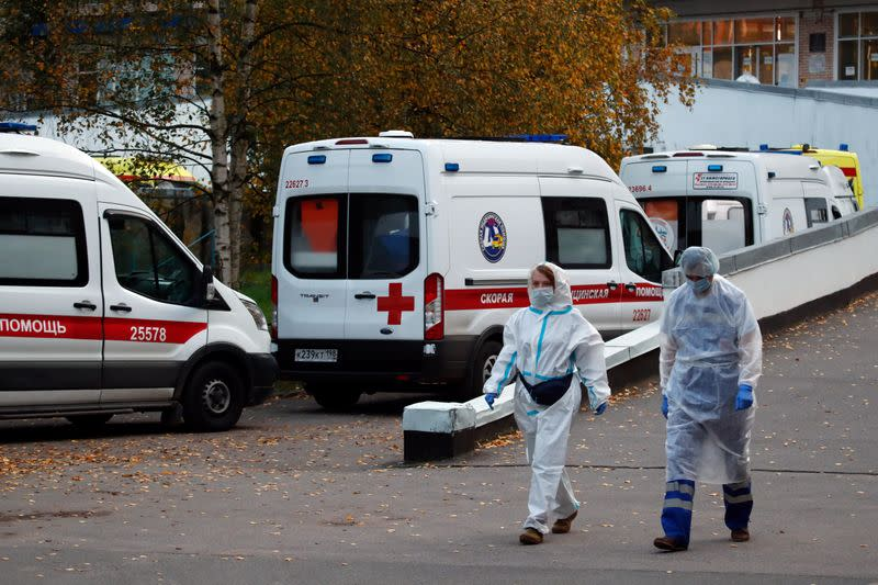 Russia reports record high daily coronavirus cases and deaths