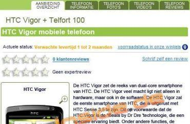 HTC Vigor with 1.5GHz dual-core CPU and Beats sighted in Dutch online store (update: it's a fake)