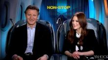 'Non-Stop' Fun: Liam Neeson and Julianne Moore on How to Make a Good Safety Demo