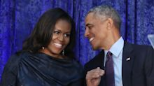 Michelle Obama shares intimate wedding photo in tribute to husband Barack