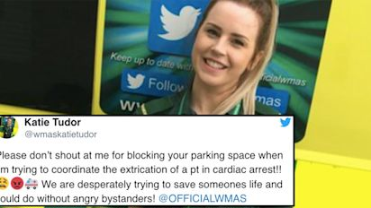 Paramedic abused for blocking parking space