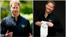 Prince Harry wears 'Daddy' coat as he goes back to work after Archie's birth